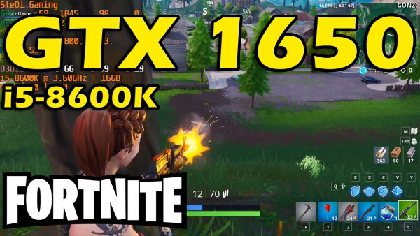 GTX 1650: Fortnite On Epic Settings – Single Mode – i5-8600K