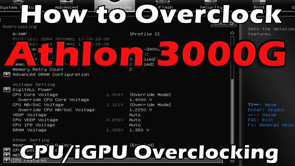 How To Overclock AMD Athlon 3000G – iGPU/CPU Overclocking