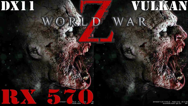 Radeon RX 570: World War Z FPS Benchmark DX11 vs. VULKAN